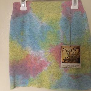 LF Tye Dye Mini Skirt
